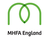 Mental Health First Aid England logo.