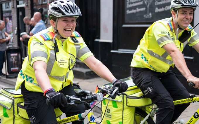Cycle Responders at outdoor summer event
